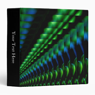 Abstract Green Black Blue Hues Binder