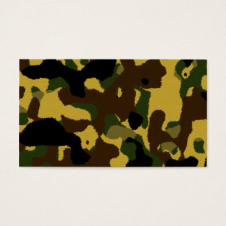 Abstract green brown yellow camouflage pattern business card