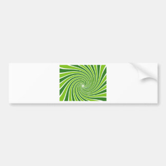 Abstract green bumper sticker
