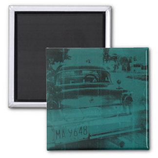 Abstract green car magnet