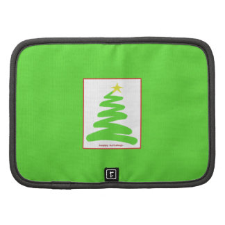 Abstract Green Christmas Tree on Green Folio Planners