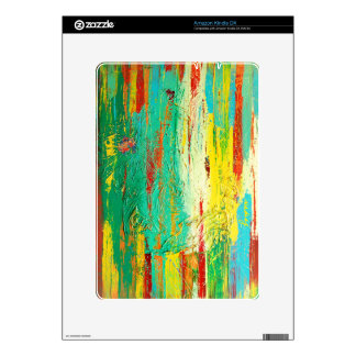 Abstract Green Colorful Skin Skins For The Kindle