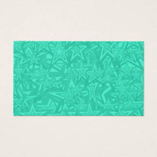 Abstract Green Concentric Stars Business Card