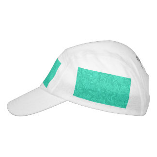 Abstract Green Concentric Stars Hat