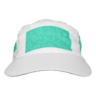 Abstract Green Concentric Stars Headsweats Hat