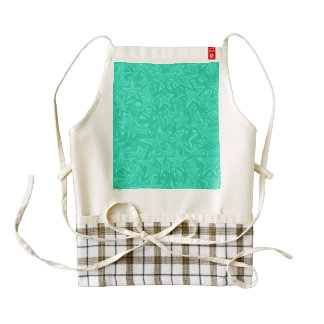 Abstract Green Concentric Stars Zazzle HEART Apron