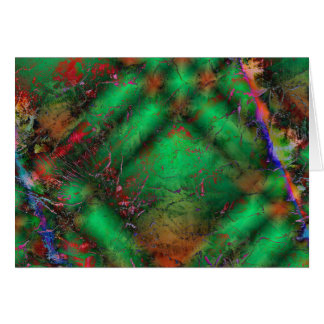 Abstract Green Crackles Card