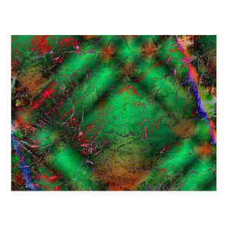 Abstract Green Crackles Postcard