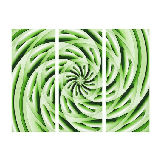 Abstract Green Eggs Canvas Wrap