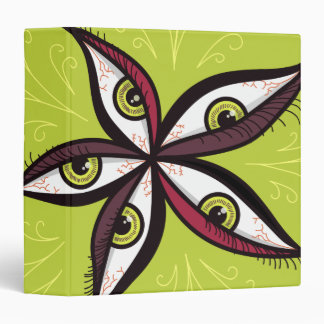 Abstract Green Eyes Flower Binder