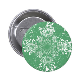 Abstract Green  Floral Dahlia Flower Pattern Buttons