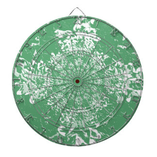 Abstract Green  Floral Dahlia Flower Pattern Dartboard