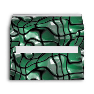 Abstract Green Gems Envelope