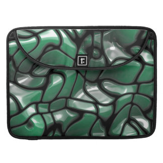 Abstract Green Gems Sleeve For MacBook Pro