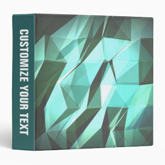 Abstract Green Geometry 3 Ring Binder