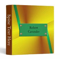 abstract green gold binder
