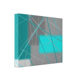 Abstract Green Gray Canvas Print