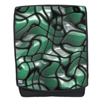 Abstract Green Jems Backpack