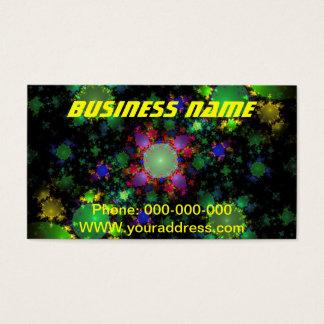Abstract Green Julia Fractal Digital Art Image Business Card