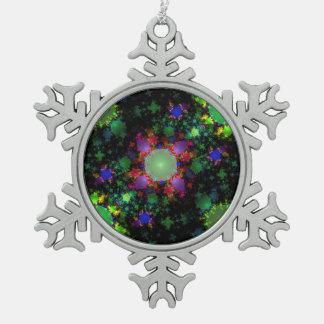 Abstract Green Julia Fractal Digital Art Image Ornament