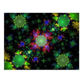 Abstract Green Julia Fractal Digital Art Image Postcard