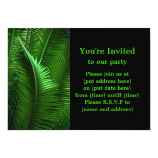 Abstract Green Leaves Card