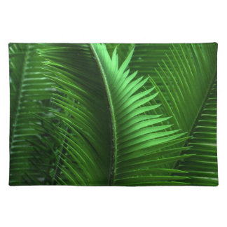 Abstract Green Leaves Cloth Placemat