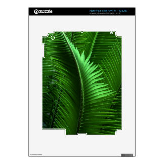 Abstract Green Leaves iPad 3 Skin