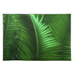 Abstract Green Leaves Place Mats