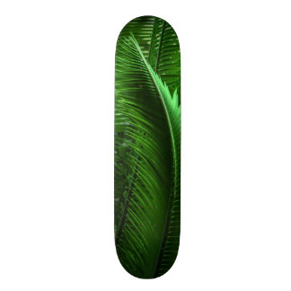 Abstract Green Leaves Skateboard Deck