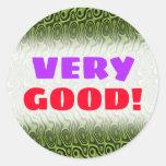 [ Thumbnail: Abstract Green Liquid-Like Splotch Pattern Sticker ]