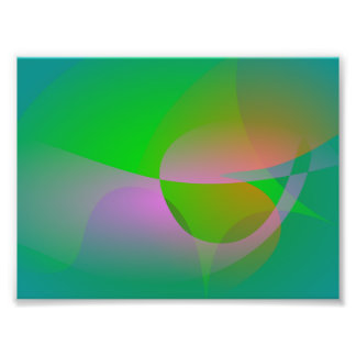 Abstract Green Lotus Leaf Art Photo