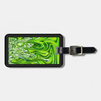 Abstract Green Magma Swirls Luggage Tag
