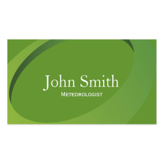 Abstract Green Meteorological Business Card