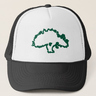 Abstract Green Oak Tree Baseball Cap
