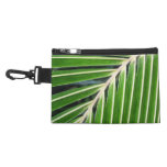 Abstract Green Palm Leaf Accessory Bags