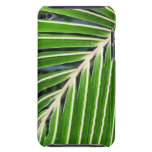 Abstract Green Palm Leaf Barely There iPod Cases