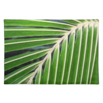 Abstract Green Palm Leaf Cloth Place Mat