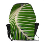 Abstract Green Palm Leaf Courier Bag