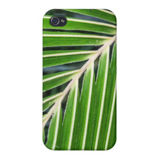 Abstract Green Palm Leaf Cases For iPhone 4