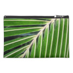 Abstract Green Palm Leaf Travel Accessory Bag