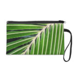 Abstract Green Palm Leaf Wristlet Clutch