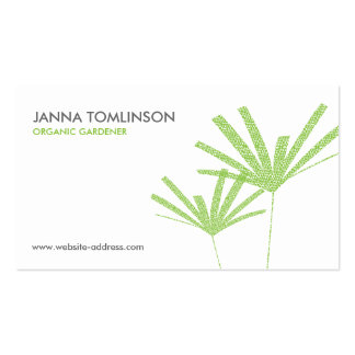 Abstract Green Palms II Business Card
