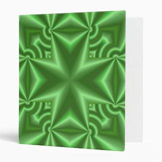 Abstract green Pattern Cross Binder