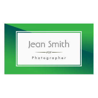 Abstract Green Photographer Business Card
