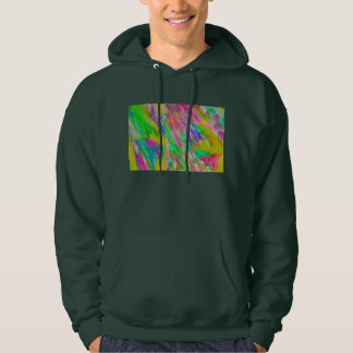 Abstract Green Pink And Blue Fractal Art Hoodie