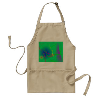 Abstract Green Planet Art Adult Apron