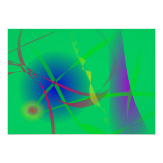 Abstract Green Planet Art Print