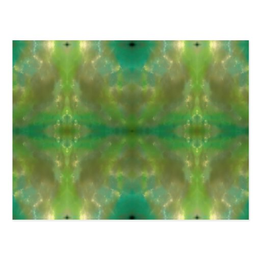 abstract Green Postcard