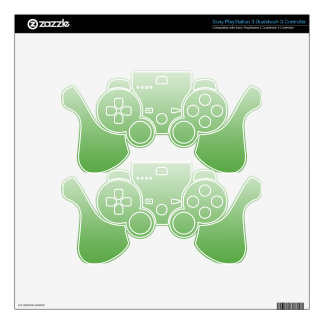Abstract  - green. PS3 controller decals